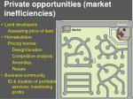 private opportunities market inefficiencies