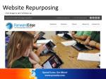 website repurposing
