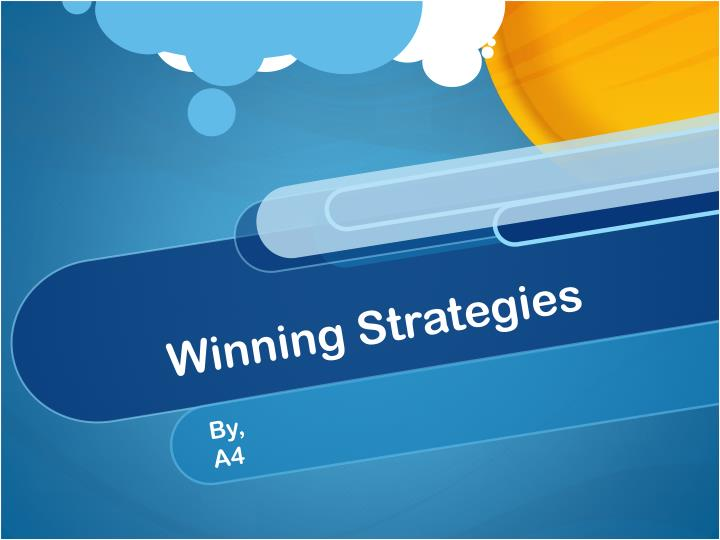 winning strategies n.