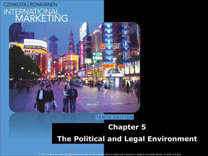 chapter 5 the political and legal environment n.