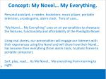 concept my novel my everything