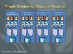people divided by disparate systems