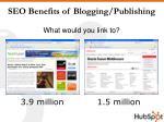 seo benefits of blogging publishing