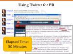 using twitter for pr