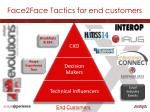 face2face tactics for end customers