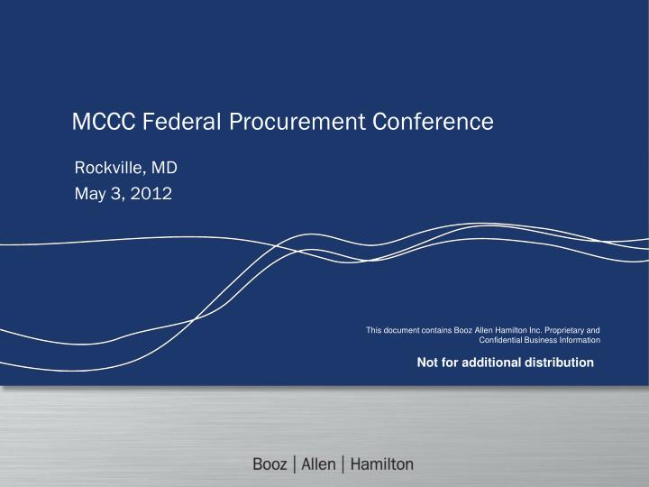 mccc federal procurement conference n.