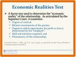 economic realities test
