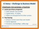 ic status challenge to business model