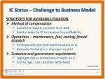 ic status challenge to business model2
