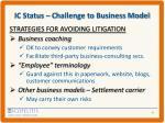 ic status challenge to business model3