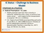 ic status challenge to business model4