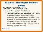 ic status challenge to business model6