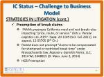 ic status challenge to business model7