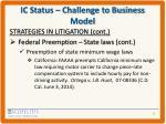 ic status challenge to business model8