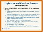 legislative and case law forecast other case law2