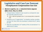 legislative and case law forecast unemployment compensation case law