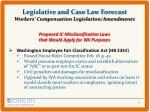 legislative and case law forecast workers compensation legislation amendments3