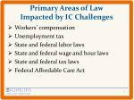 primary areas of law impacted by ic challenges