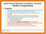 state owner operator exemption gotchas workers compensation1