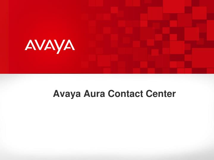 avaya aura contact center n.