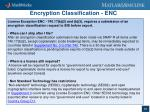 encryption classification enc