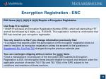 encryption registration enc