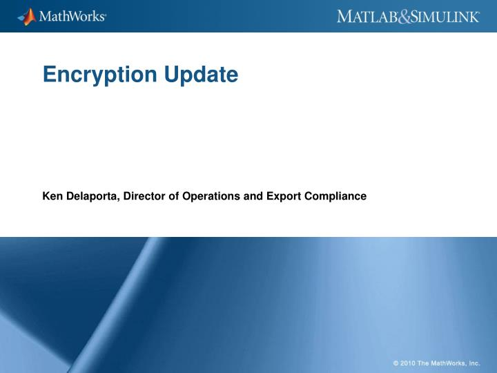 encryption update n.