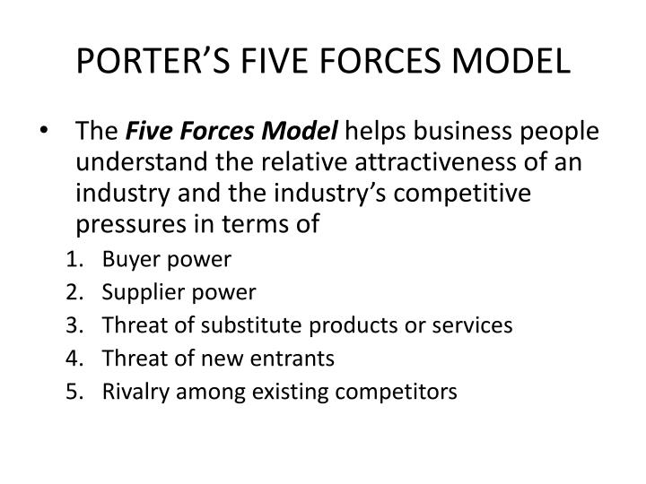porters five force model indian shoe industry The five forces model aims to examine five key forces of competition within a given industry the main force examined by porter's model is the level of competition within an industry.