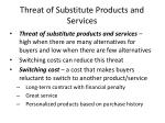 threat of substitute products and services