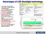 advantages of led backlight technology