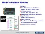 minipcie fieldbus modules