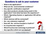 questions to ask to your customer
