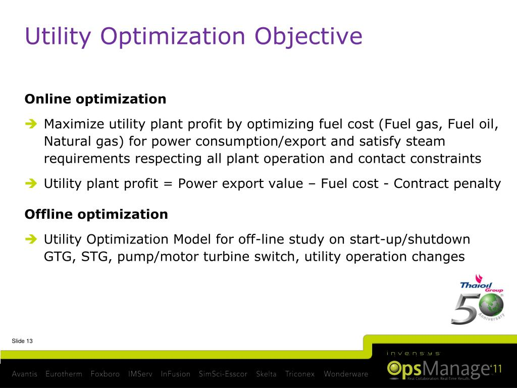 PPT - Thai Oil Refinery-wide Optimization Vision & Utilities