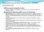 regulatory priorities in practice mena countries 1