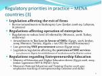 regulatory priorities in practice mena countries 3