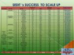 sedit s success to scale up