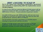 sedit s success to scale up1