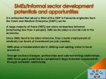 smes informal sector development potentials and opportunities
