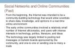 social networks and online communities past