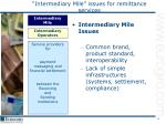 intermediary mile issues for remittance services