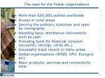 the case for the postal organisations