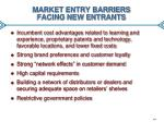 market entry barriers facing new entrants