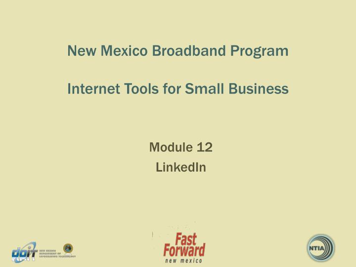 new mexico broadband program internet tools for small business n.