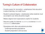 tuning s culture of collaboration