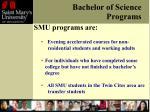 bachelor of science programs