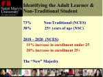identifying the adult learner non traditional student1