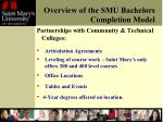 overview of the smu bachelors completion model2