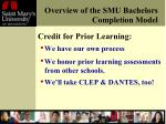 overview of the smu bachelors completion model4