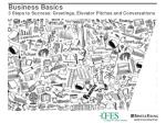 business basics 3 steps to success greetings elevator pitches and conversations