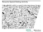 resume speed dating activity
